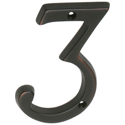 Schlage classic house number 3 3036 waybuild for Classic house numbers
