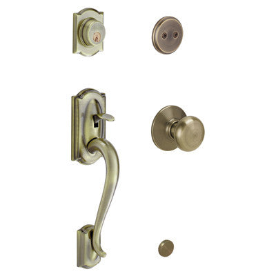 Schlage Camelot Handleset With Plymouth Knob F93 Cam 505