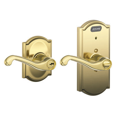 Schlage Camelot Collection With Flair Lever Fe51 Fla