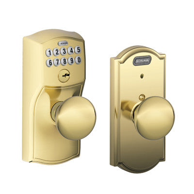 Schlage Camelot Collection With Plymouth Knob Fe576 Ply