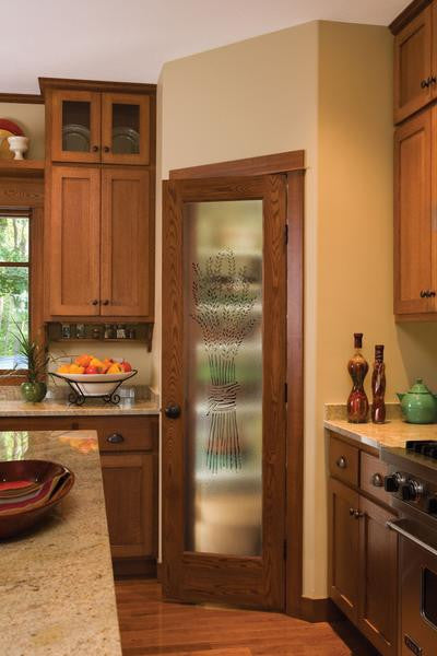 Jeld Wen 1501 Authentic Wood Glass Panel Interior Door