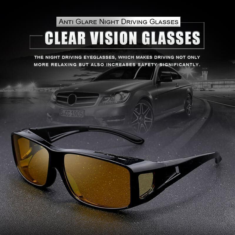 Clear Vision Glasses-Anti Glare Night Driving Glasses