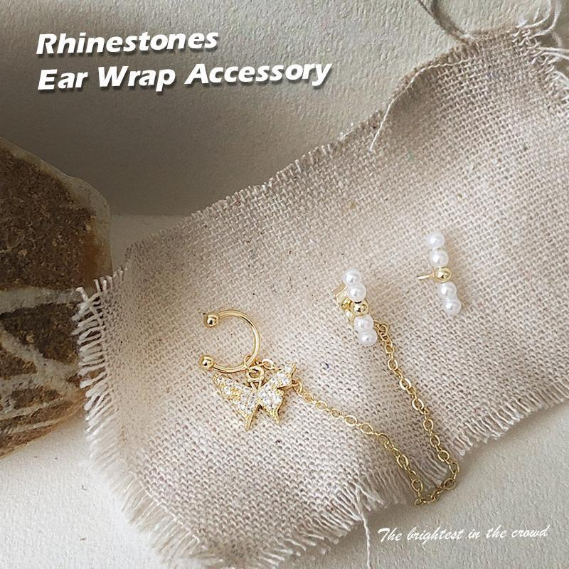 New-Rhinestones Ear Wrap Accessory