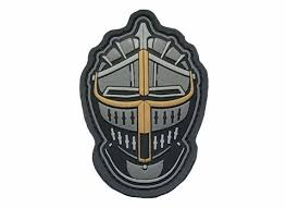 knight's helmet patch