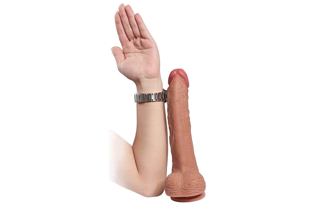 "Realistic 10.7"" Dildo Female Masturbation with Strong Suction Cup"
