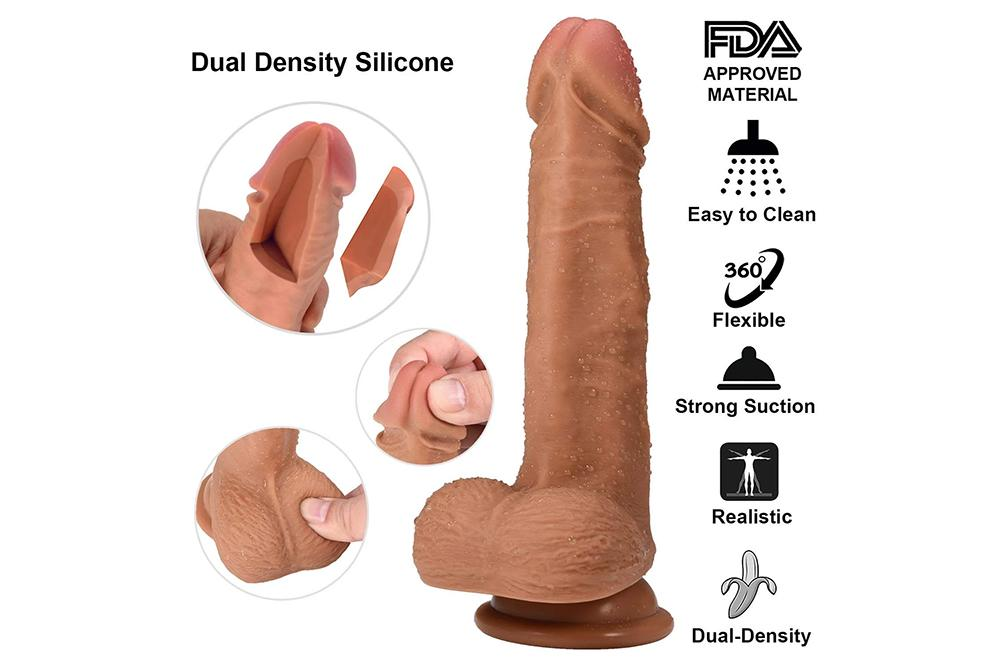 7.5 Inch Realistic Dildo Liquid Silicone Lifelike Penis with Strong Suction Cup