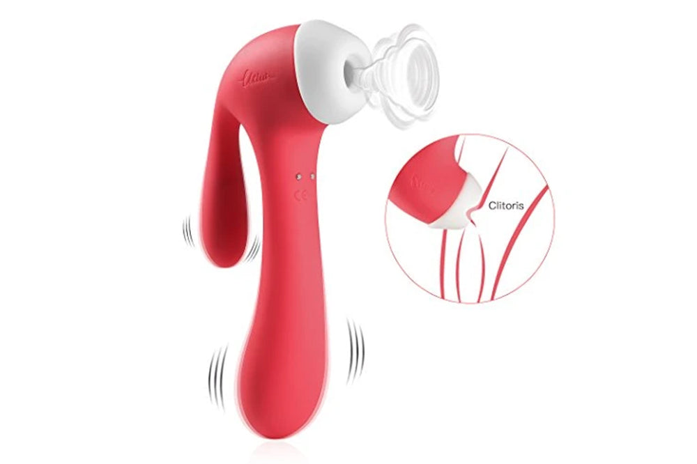 Sucking Vibrator G Spot Clit Vibrators for Women with Suction and Vibration Nipple Stimulation Toys