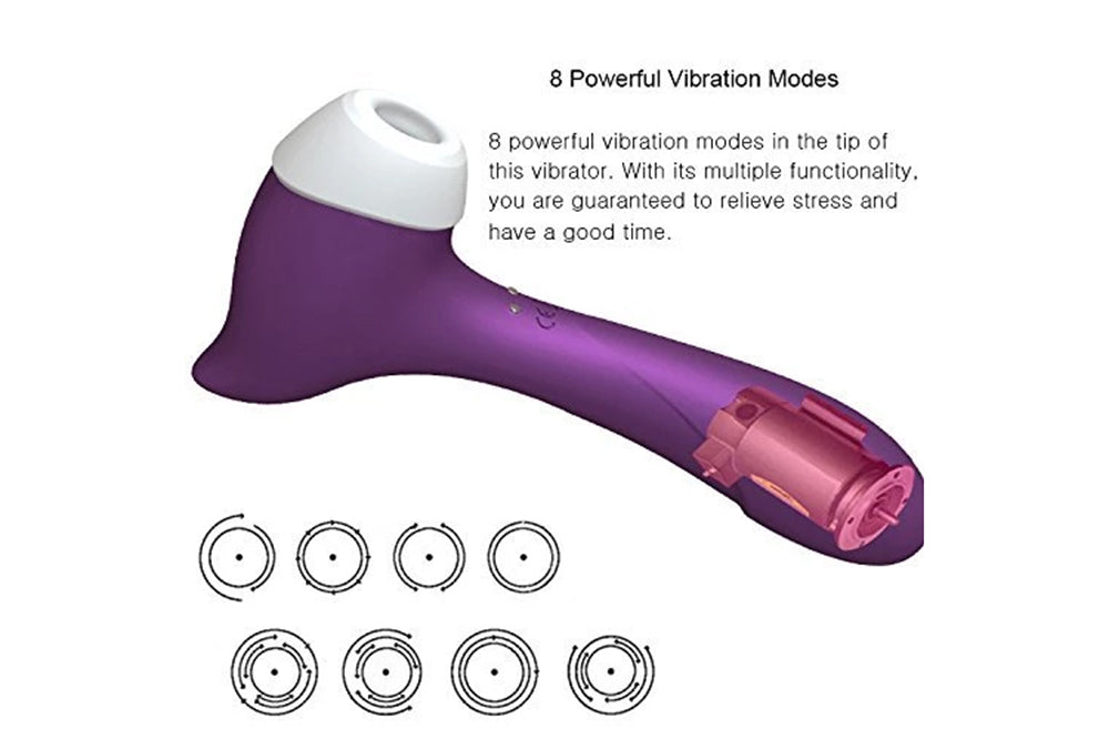 Clitoral Sucking Vibrator Waterproof G Spotter Nipple Stimulator for Women