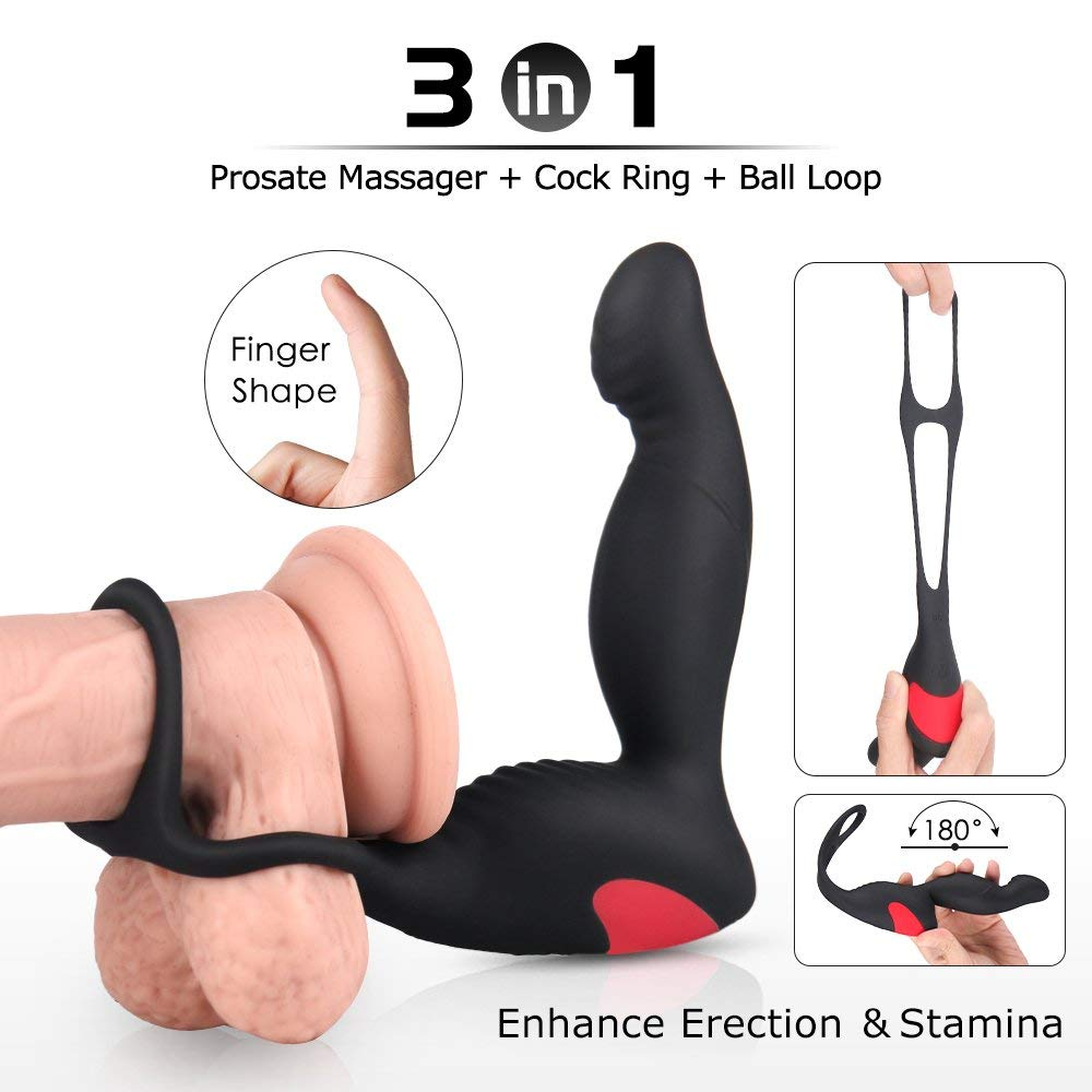 Remote Vibrating Prostate Massager Vibrator