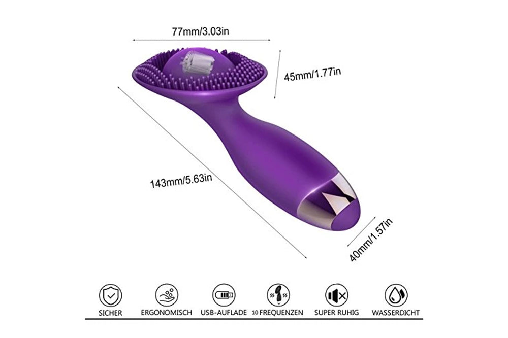 Clit Vibrator for Women, Rotate 360° Clitoral Stimulation Rechargeable
