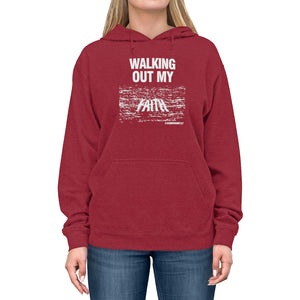 Walking Out My Faith WUnisex Lightweight Hoodie