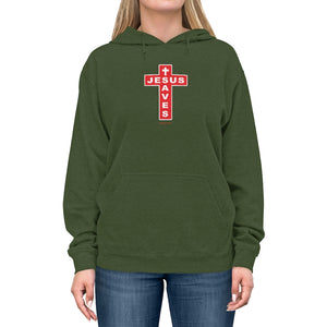 Jesus Saves Women's Unisex Lightweight Hoodie