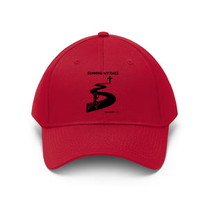 Running My Race Women Unisex Twill Hat