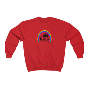 The King is Coming Men Unisex Heavy Blend™ Crewneck Sweatshirt