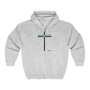 Believe and Be Saved 2.0 Men's Heavy Blend™ Full Zip Hooded Sweatshirt