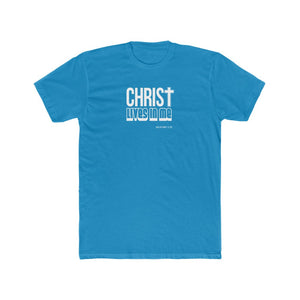 Christ Lives in Me Men's Cotton Crew Tee
