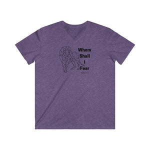 Whom Shall I Fear Men's Fitted V-Neck Short Sleeve Tee