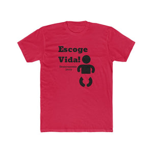 Escoge Vida Men's Cotton Crew Tee