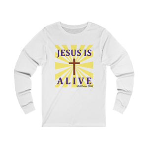Jesus Is Alive Unisex Jersey Long Sleeve Tee