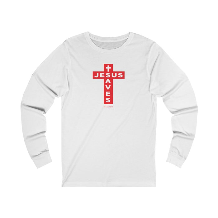 Jesus Saves Men's Unisex Jersey Long Sleeve Tee