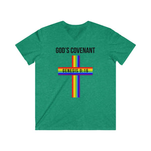 God's Covenant 2.0 Men's Fitted V-Neck Short Sleeve Tee
