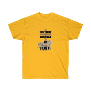 Victory Belongs to Jesus Women's Unisex Ultra Cotton Tee