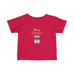 Merry Christmas Infant Fine Jersey Tee