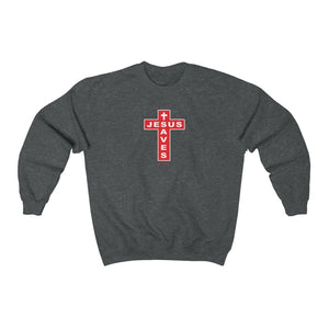 Jesus Saves Men's Unisex Heavy Blend™ Crewneck Sweatshirt