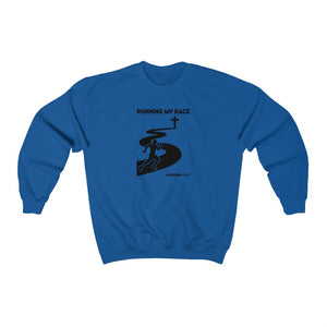 Running My Race Men's Unisex Heavy Blend™ Crewneck Sweatshirt