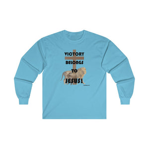 Victory Belongs to Jesus Men's Ultra Cotton Long Sleeve Tee