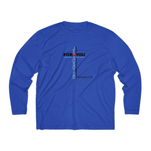 Jesus Died For You Men's Long Sleeve Moisture Absorbing Tee (Sportswear)
