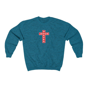 Jesus Saves Women's Unisex Heavy Blend™ Crewneck Sweatshirt