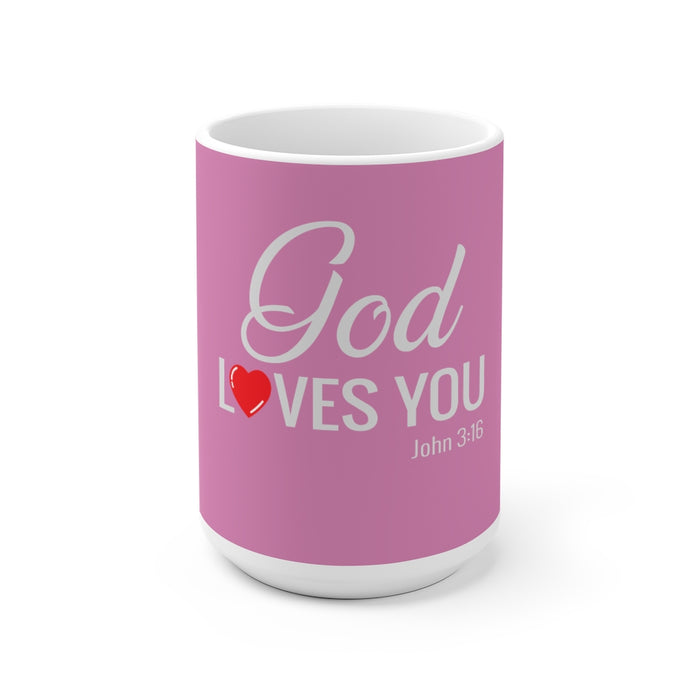 God Loves You White Ceramic Mug