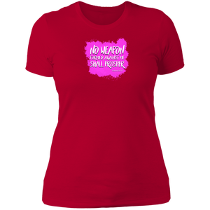 No Weapon Formed Against You Shall Prosper Women's The Boyfriend Tee