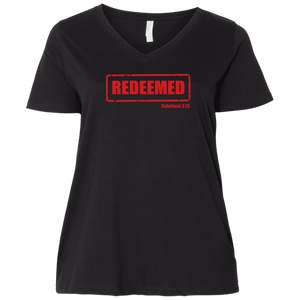 Redeemed Ladies Curvy V Neck Tee