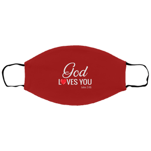 God Loves You Small/Medium Face Shield