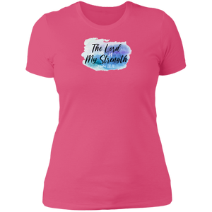 The Lord is My Strength Ladies Boyfriend Tee