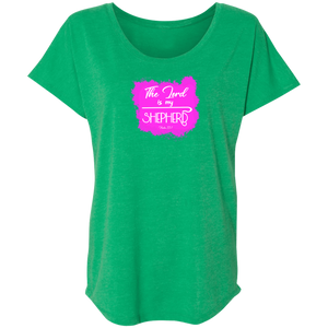 The Lord is My Shepherd Ladies Triblend Dolman