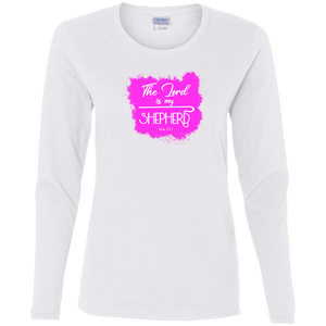 The Lord is My Shepherd Ladies Cotton LS Tee
