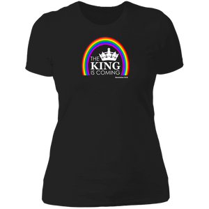 The King is Coming Ladies Boyfriend Tee