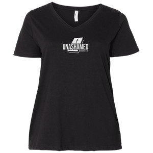 Unashamed Ladies Curvy V Neck Tee Shirt