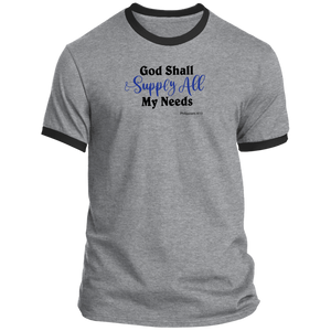 God Shall Supply Men's Ringer Tee