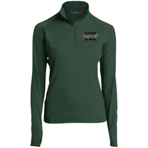 God Shall Supply All My Needs Women's 1/2 Zip Performance Pullover