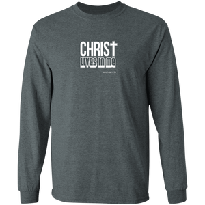 Christ Lives in Me Men's LS Ultra Cotton Tee Shirt