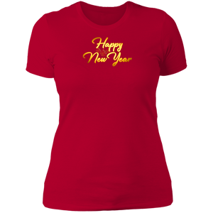 Happy New Year Ladies Boyfriend Tee