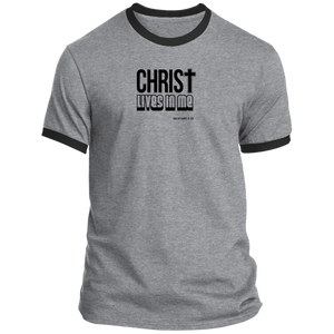 Christ Lives in Me Men's Ringer Tee