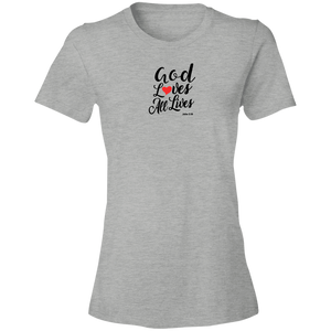 God Loves All Lives Women's Lightweight Tee Shirt