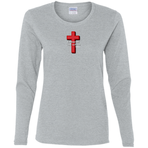 Emmanuel God With Us Ladies Cotton LS Tee Shirt