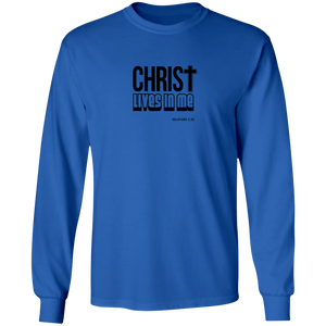 Christ Lives in Me LS Ultra Cotton Tee Shirt