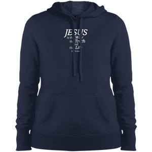 Jesus is the Way Ladies Pullover Hooded Sweatshirt